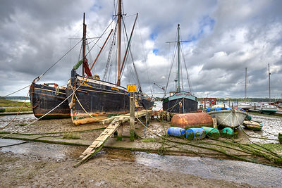 Boats on the hard Pin Mill