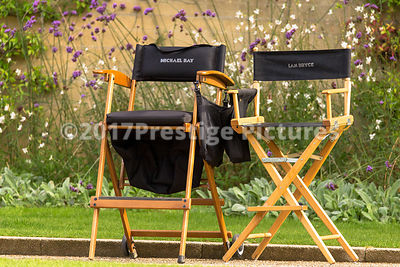 Director's chairs for Michael Bay and Ian Bryce
