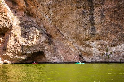Kayakers Exploring Canyon of Lake in Arizona