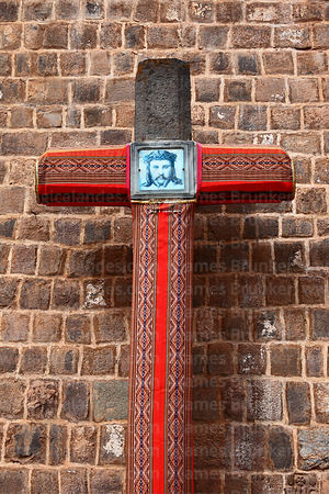 Cruz velakuy cross next to San Blas church, Cusco, Peru