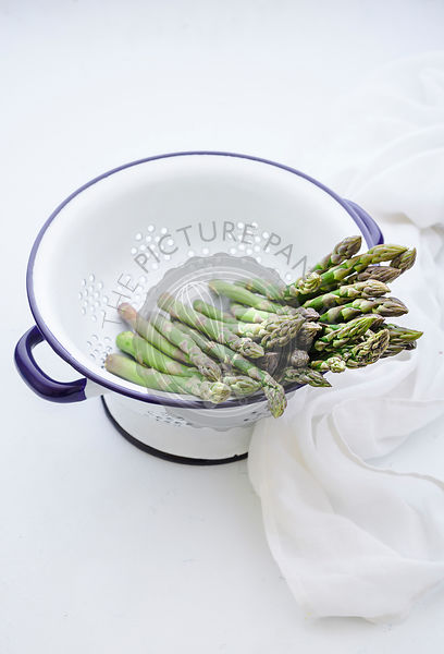 Asparagus in a collander
