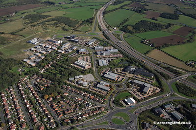 aerial photograph of Thorpe Park,Business Park, Leeds, West Yorkshire LS15 8GB, United Kingdom