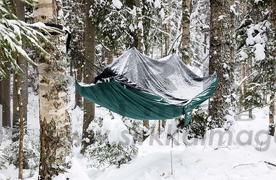 Hammock in winter use