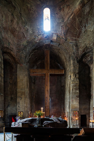 Interior of the 4th Century Jvari Church