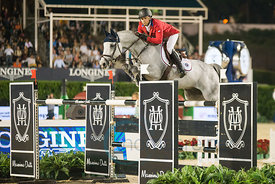 Kent Farrington (USA) riding Uceko at the CSIO Barcelona on 10.10.2014, Longines Cup of the City of Barcelona, Club Real de Polo, Barcelona, Spain