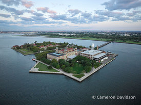 Aerial photograph of Ellis Island