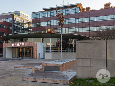 Hanami Campus, Rueil Malmaison, France. Building by Volade & Pistre 1991, retrofit by Marie Alfroid et Delphine Waiss Architecture 2016