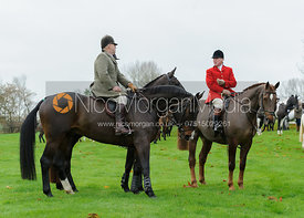 Belvoir Huntsman John Holliday  at the meet