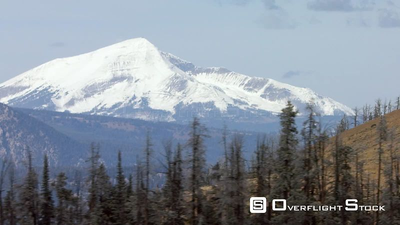 Lone Peak overlooks the Gallatin mountains and Gallatin Canyon between Yellowstone National Park and Bozeman, Montana