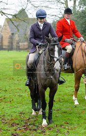 Amber Hoskins at the meet - The Belvoir Hunt at Buckminster