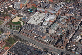 Chester aerial photograph of St Martins Way looking towards the Forum Shopping Centre Chester