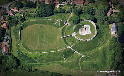 aerial photograph of Castle Acre , Norfolk England