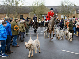 Andrew Osborne MFH and the Cottesmore hounds