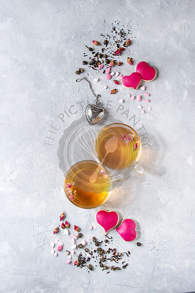 Love Valentine tea greeting card