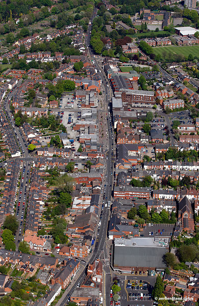 aerial photograph of Harborne High St.Birmingham, West Midlands B17 9NR