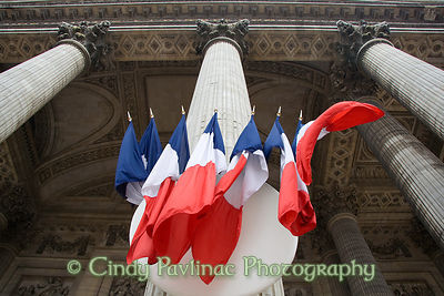 Pantheon Flags, Victory Day, Paris