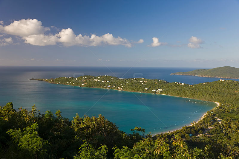 Elevated view over Magens Bay, the most famous beach on St. Thomas, US Virgin Islands, Leeward Islands, Lesser Antilles, Caribbean, West Indies 2008