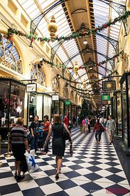 Melbourne, Australia. Royal Arcade shopping center