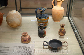 Punic Objects; Carthage Museum, Tunis, Tunisia; Landscape
