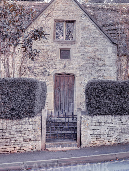 Front yard of old cottage in Bibury,  Cotswold, UK