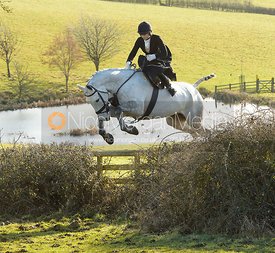 Amy Bryan-Dowell jumping a hedge at Bleak House