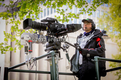 Television Cameraman on a tower at the London Olymoics