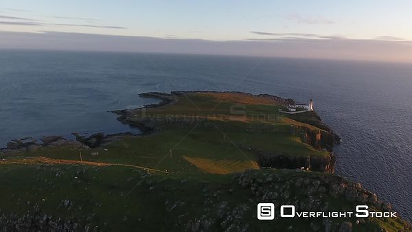 Neist Point Lighthouse Isle of Skye Drone Video Scotland