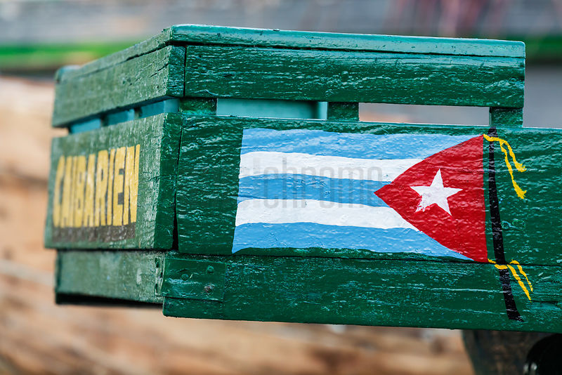 Detail of Cuban Flag Painted on Boat