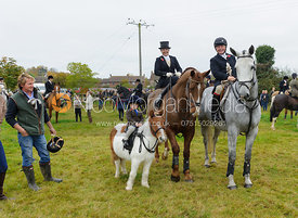 Frances Moulaert at the meet - Belvoir Hunt Opening Meet 2016.