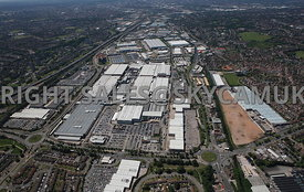 Birmingham aerial photograph of the Jaguar Landrover plant Chester Road Castle Bromwich