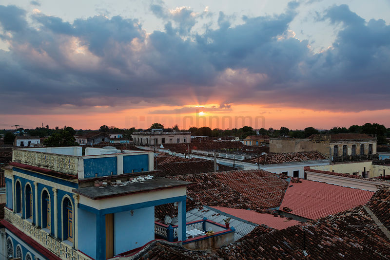 Sunset over the Rooftops of Remedios