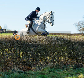 Tanya Kyle jumping a hedge at Barrowcliffe Farm 18/11