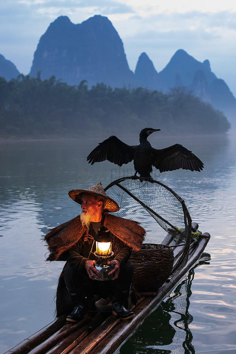 Traditional Cormorant Fisherman on the Li River