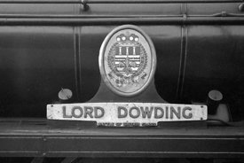 Nameplate BB No 34052 LORD DOWDING