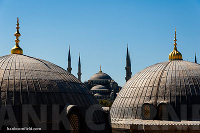 Blue Mosque and Hagia Sofia domes