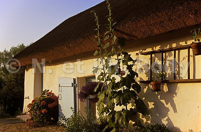 MAISON TRADITIONNELLE, VENDEE, FRANCE//TRADITIONAL TATCHED ROOF HOUSE, VENDEE, FRANCE