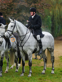 Nick Townsend at the meet - The Cottesmore at Langham.