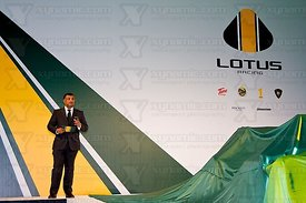 Tony Fernandes (MAS), Lotus Cosworth T127 F1 Launch, Royal Horticultural Hall, London, GBR