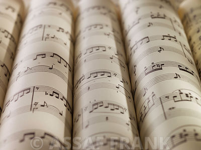 Scrolls of sheet music