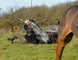 jumping the hedge by Knossington Spinney
