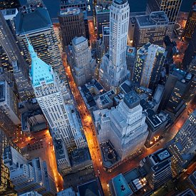 Wall Street | Financial District aerial pictures