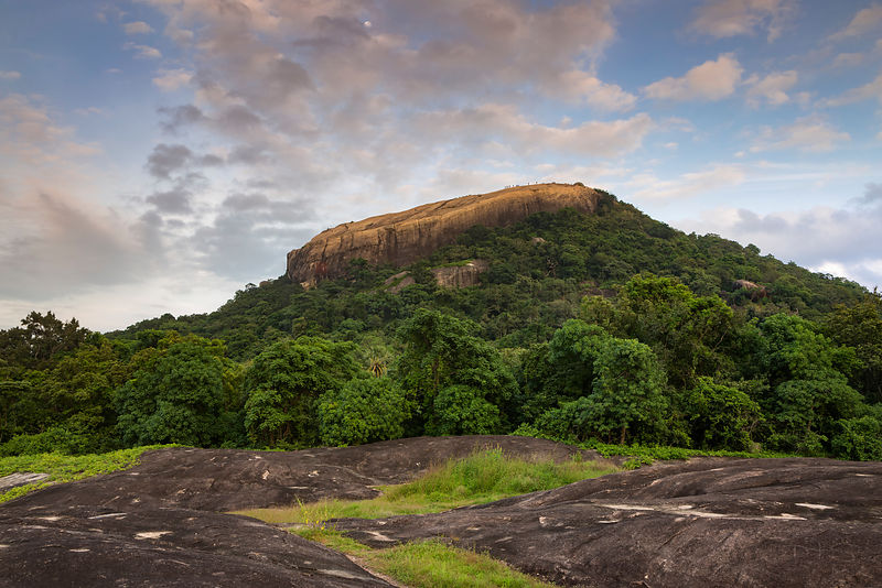 View of Pidurangala Rock from the Pidurangala Viewpoint