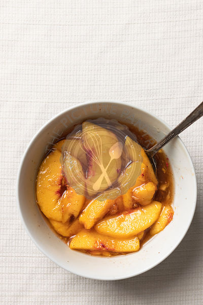 Peach Slices in Maple Syrup