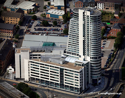 aerial photograph of Bridgewater Place  Leeds Yorkshire England UK
