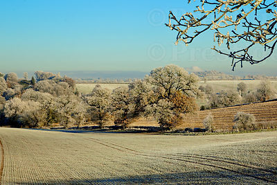 Sweeping fields on a beautiful, frosty winters morning