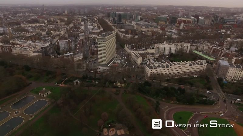 Drone Video Bayswater Road Hyde Park London England