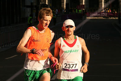 Csaba Orban ran for Hungary in the T12 Marathon at the London Paralympic Games