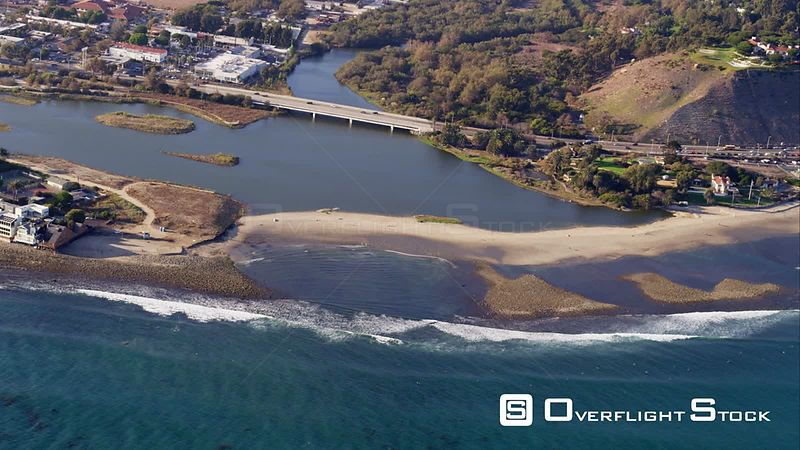 Aerial View Of The Malibu Lagoon, RED R3D 4k California