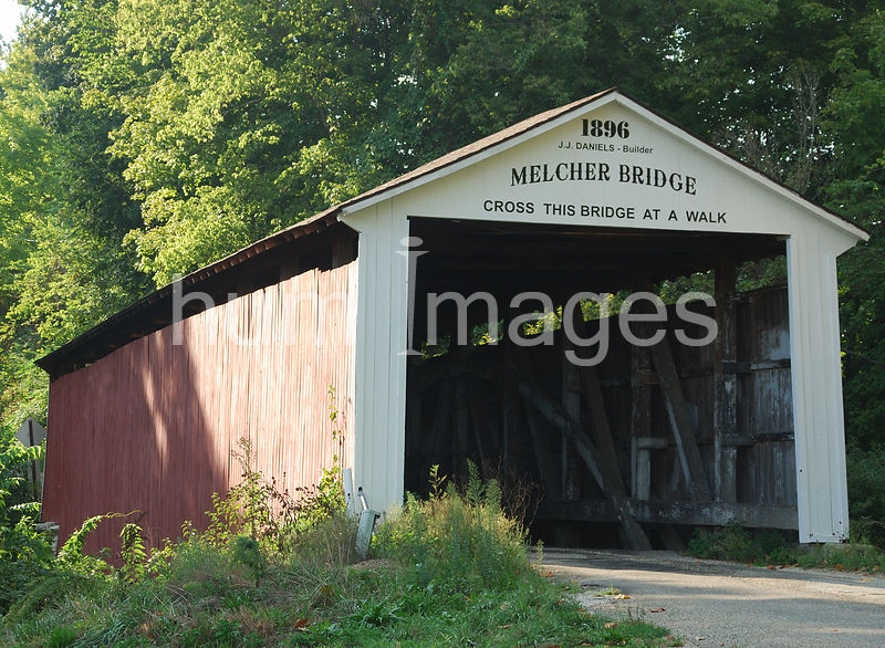 Melcher Covered Bridge in Indiana