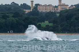 Big splash in front of Osborne House.